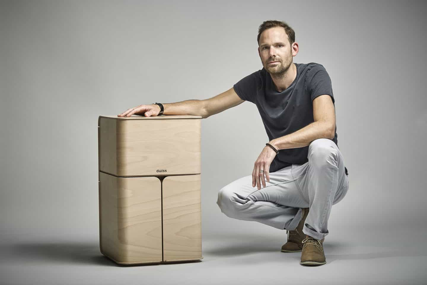 dwiss sustainable plywood recycling bin founder Jon Walker