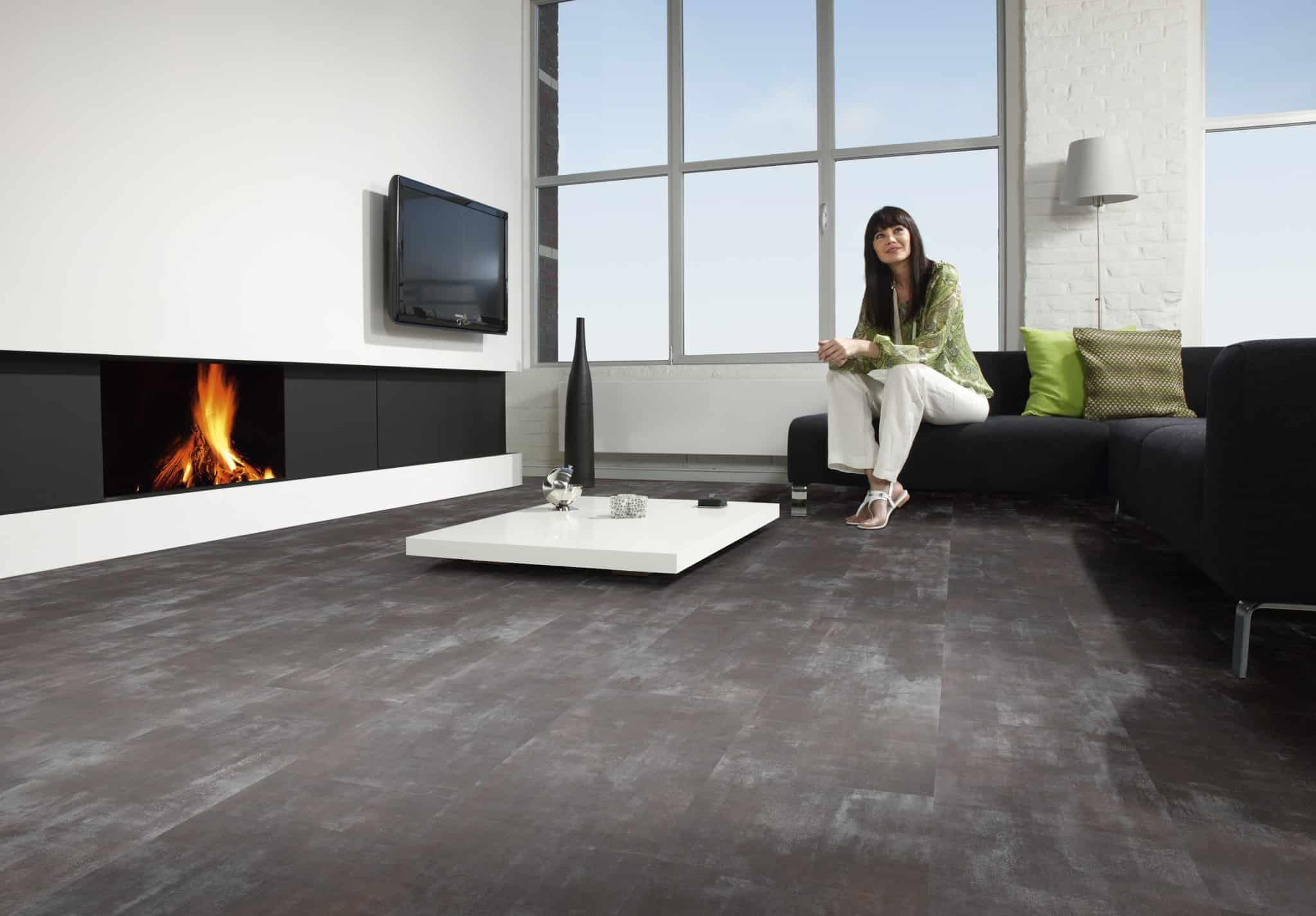 Bricoflor Vinyl Click Flooring - Steel Anthracite 044