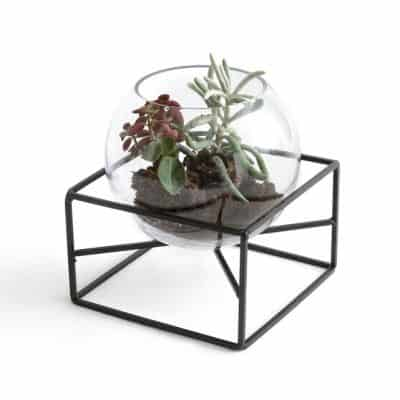 Tadi Glass & Metal Vase