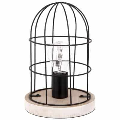 Armen Industrial Style Black Metal Lamp