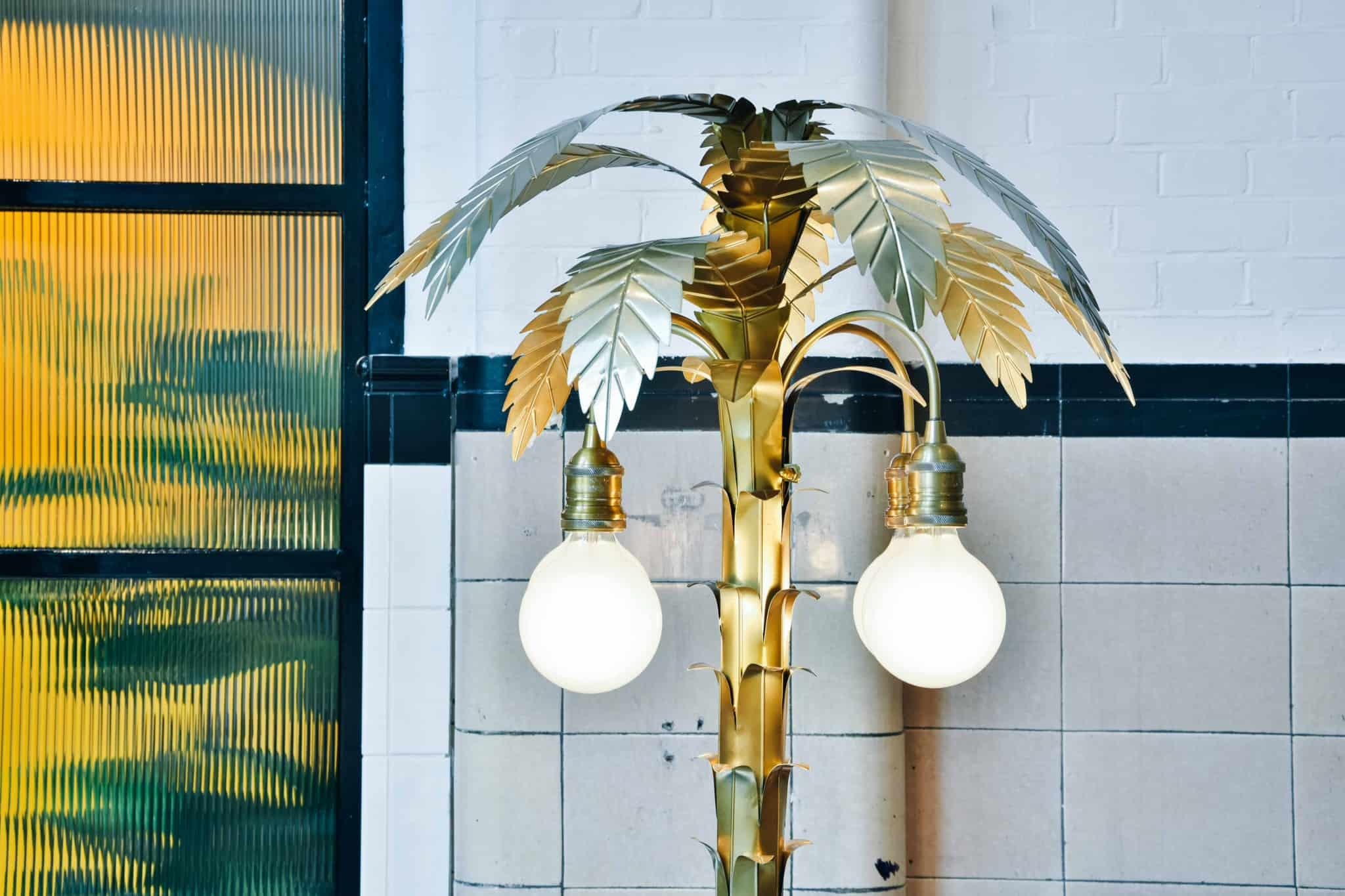 THIS Workspace coworking space in Bournemouth - palmtree floor lamp