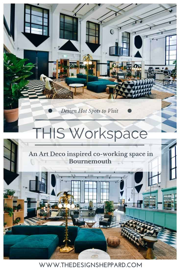THIS Workspace is an art deco inspired coworking space in Bournemouth. The industrial building harks back to its hay day as the printing works for the Daily Echo Newspaper.
