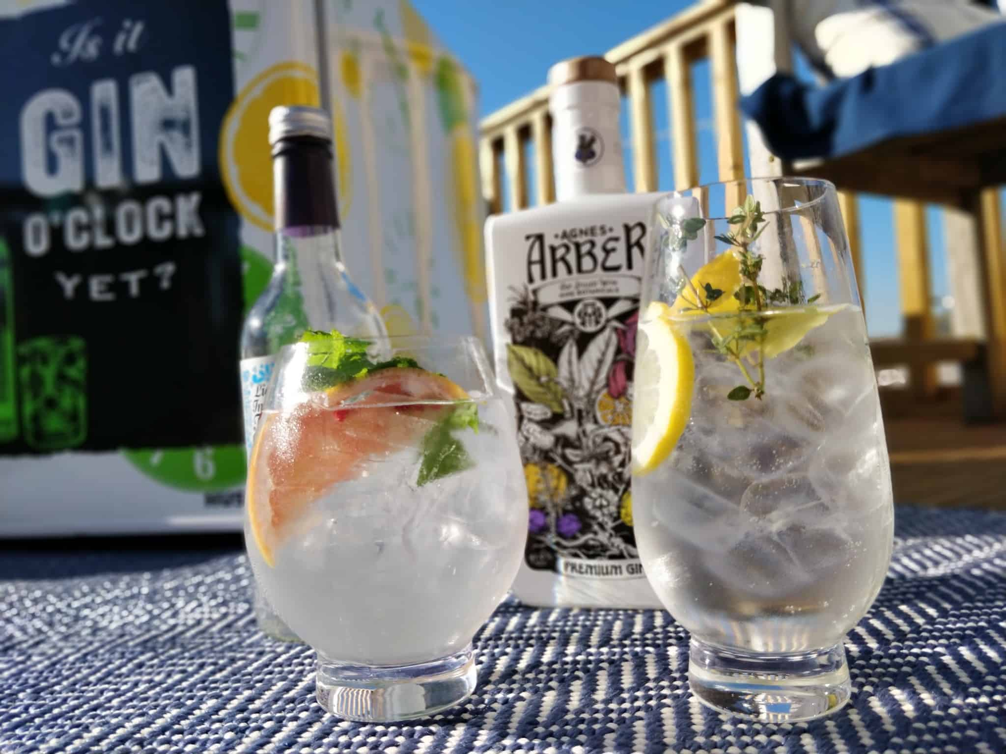 Making Gin Cocktails - Husky Gin Fridge, Dartington Crystal glasses and Agnes Arber Gin