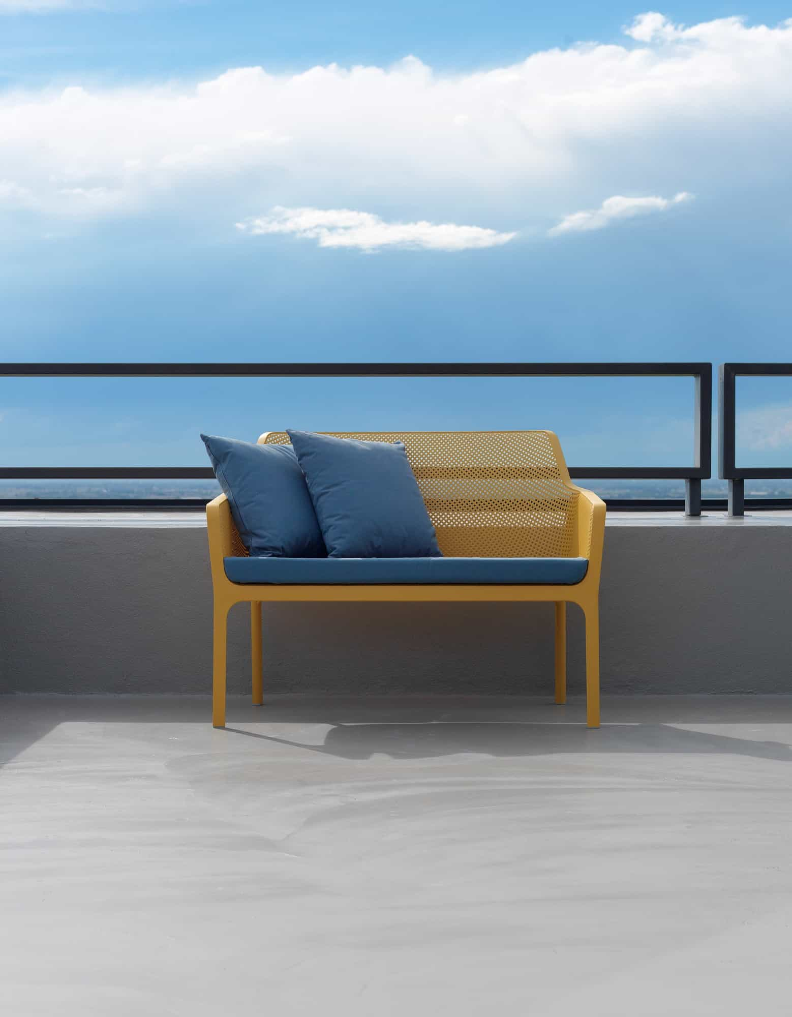 Net outdoor furniture - sofa by Nardi in yellow