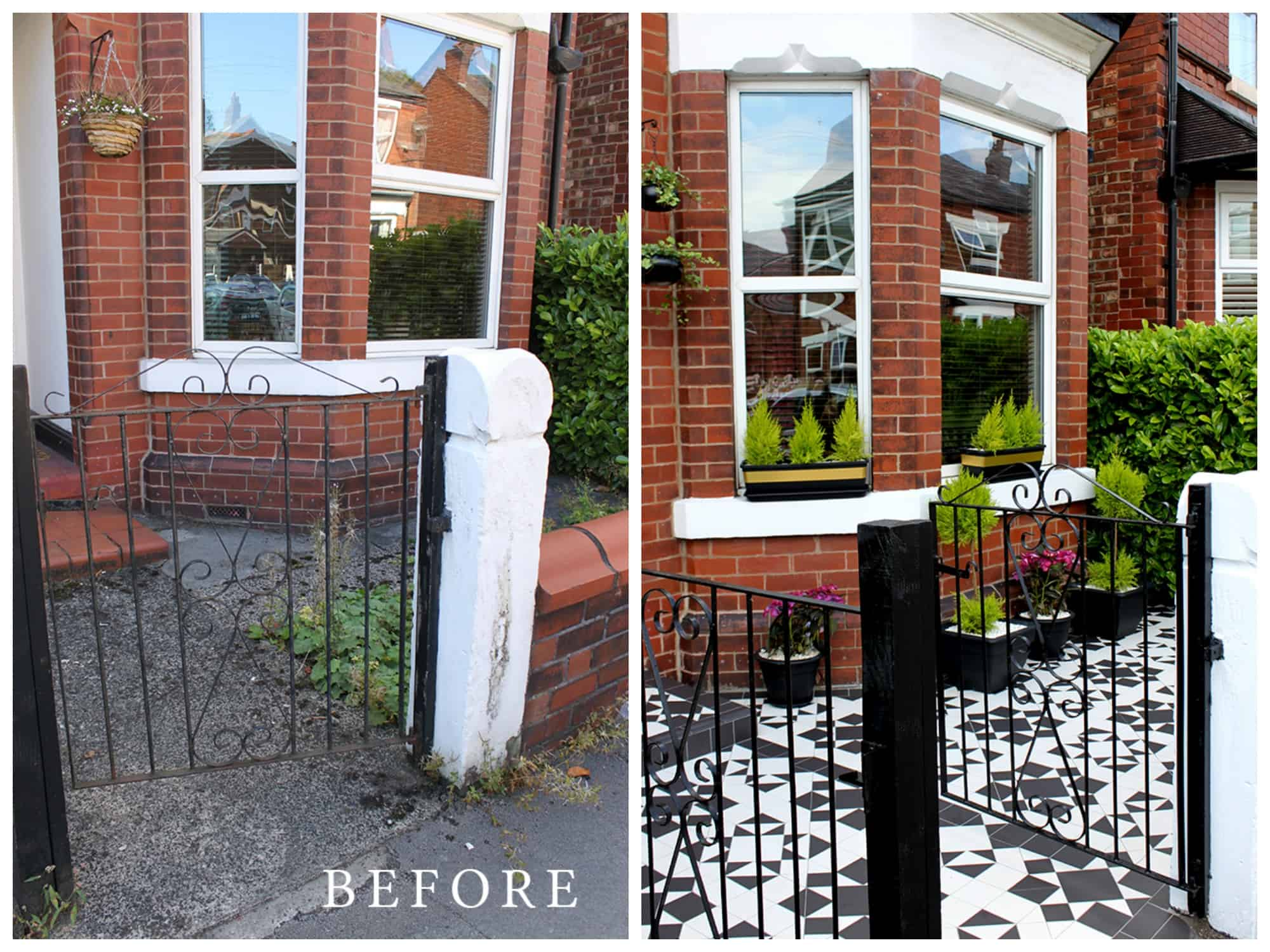 Swoonworthy blog front patio makeover. 10 tips for preparing your home for sale - give it curb appeal