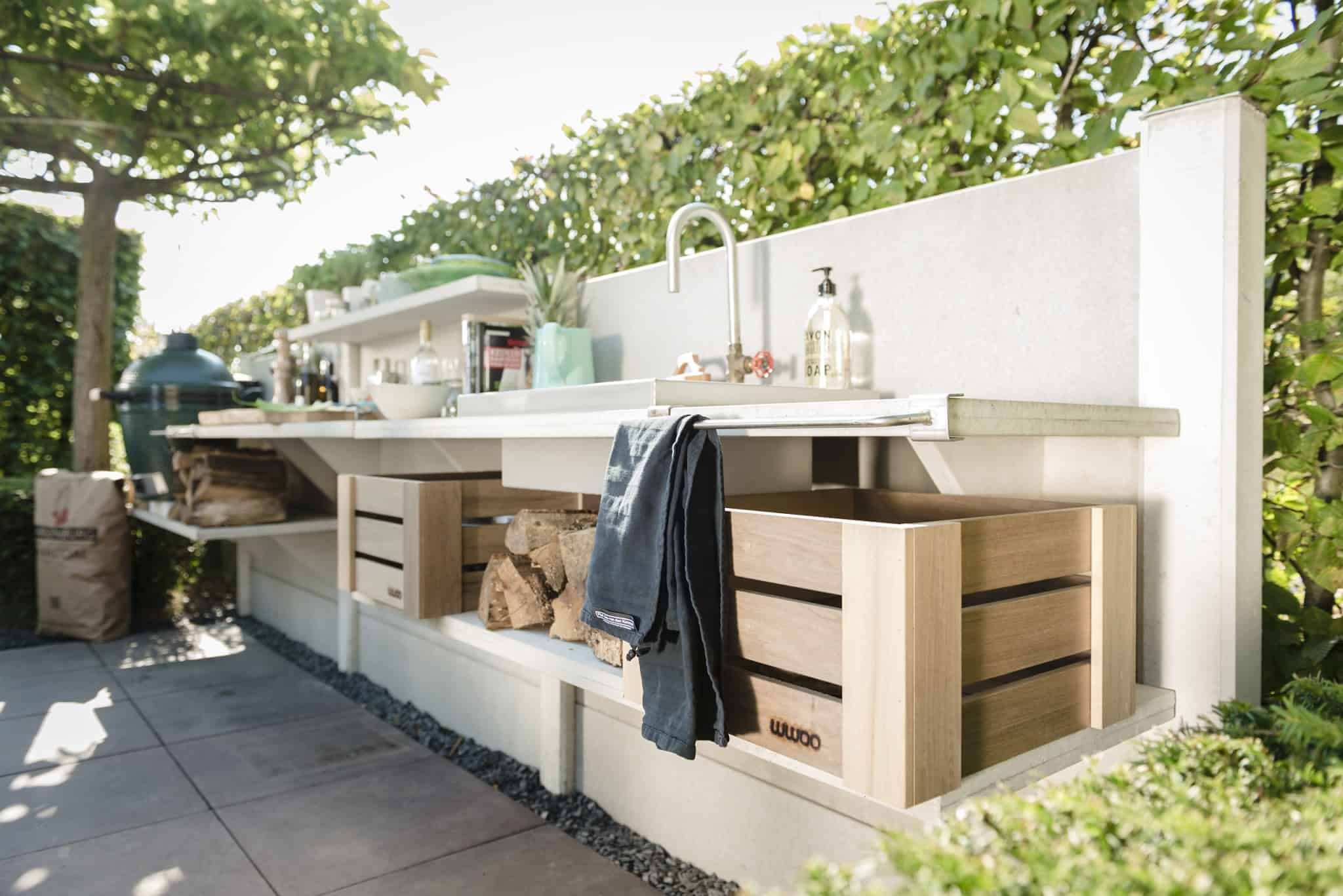 WWOO outdoor kitchen is made from concrete segments