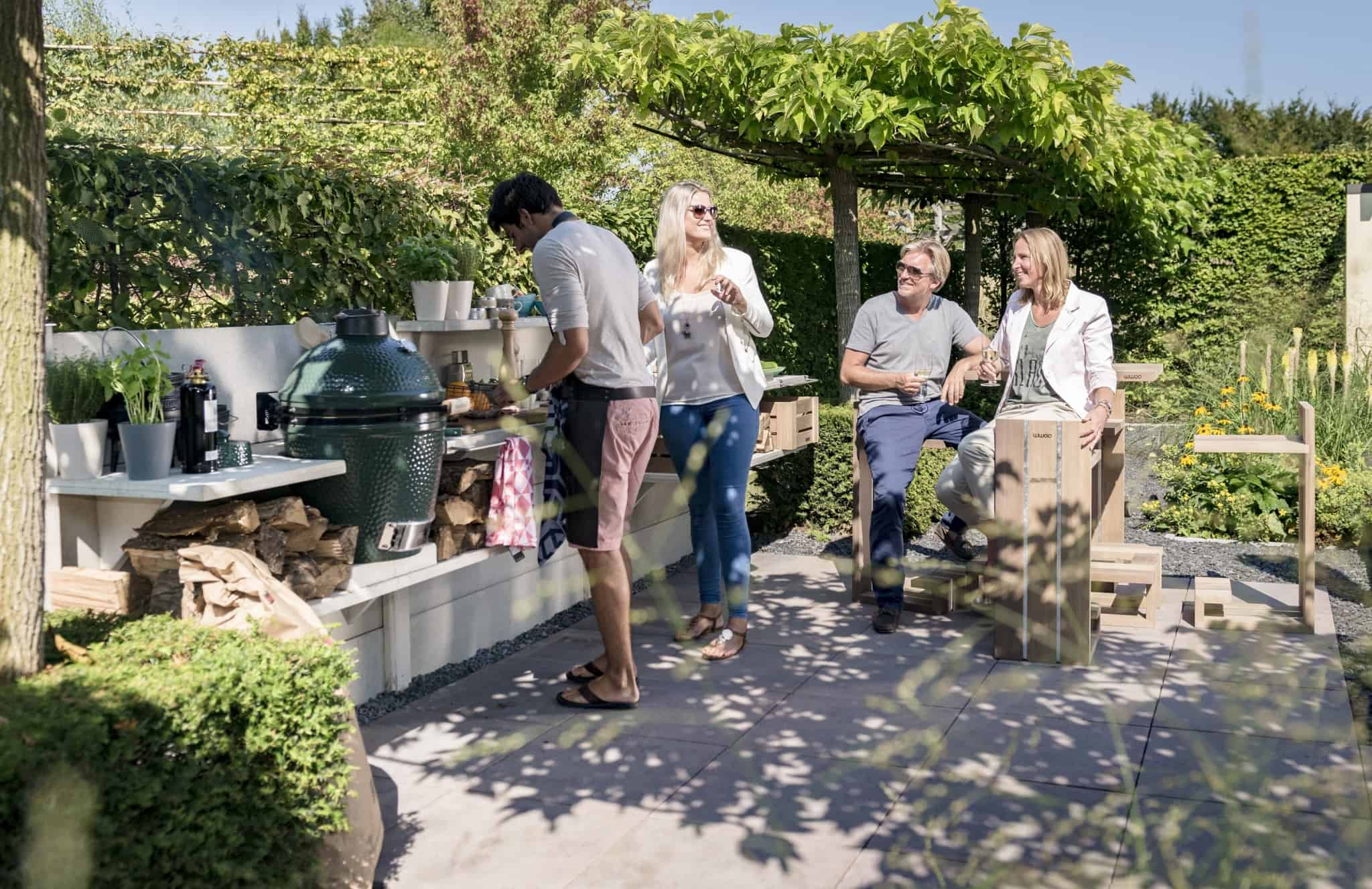 WWOO outdoor kitchen is a low maintenance concrete kitchen that can be customised to meet your needs