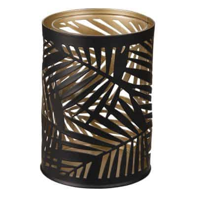 Black Openwork Metal Tea Light Holder