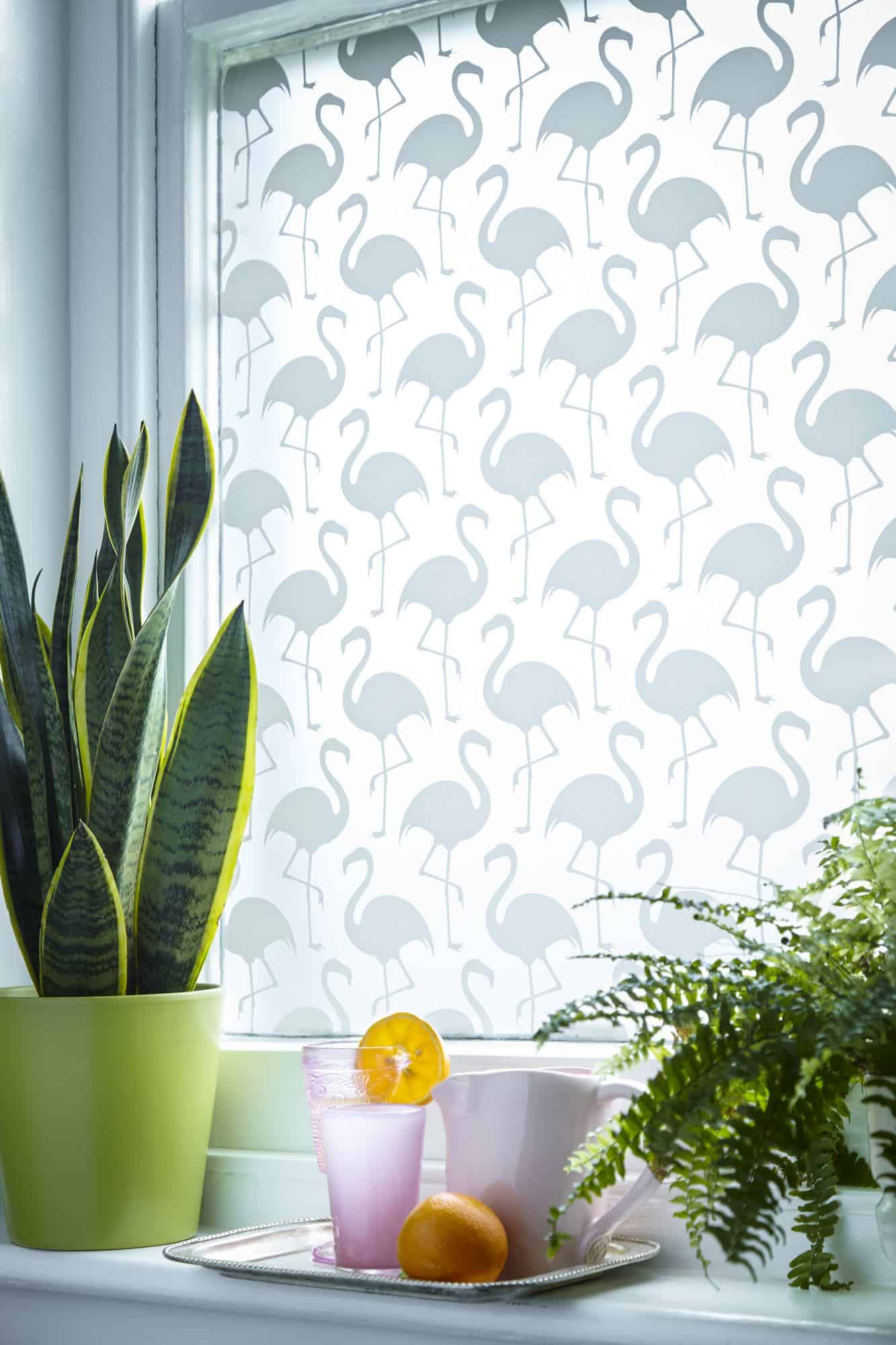 Decorative Window Film - Flamenco White Printed Design from £30 - The Window Film Company