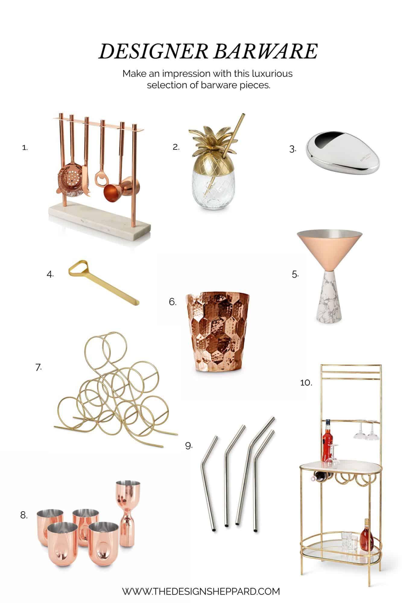Designer Barware