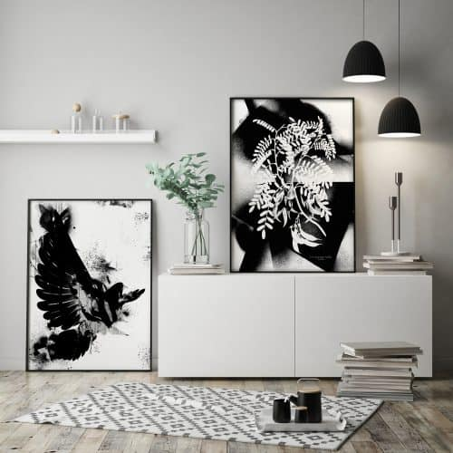 Ink and Drop-black and white graffiti prints
