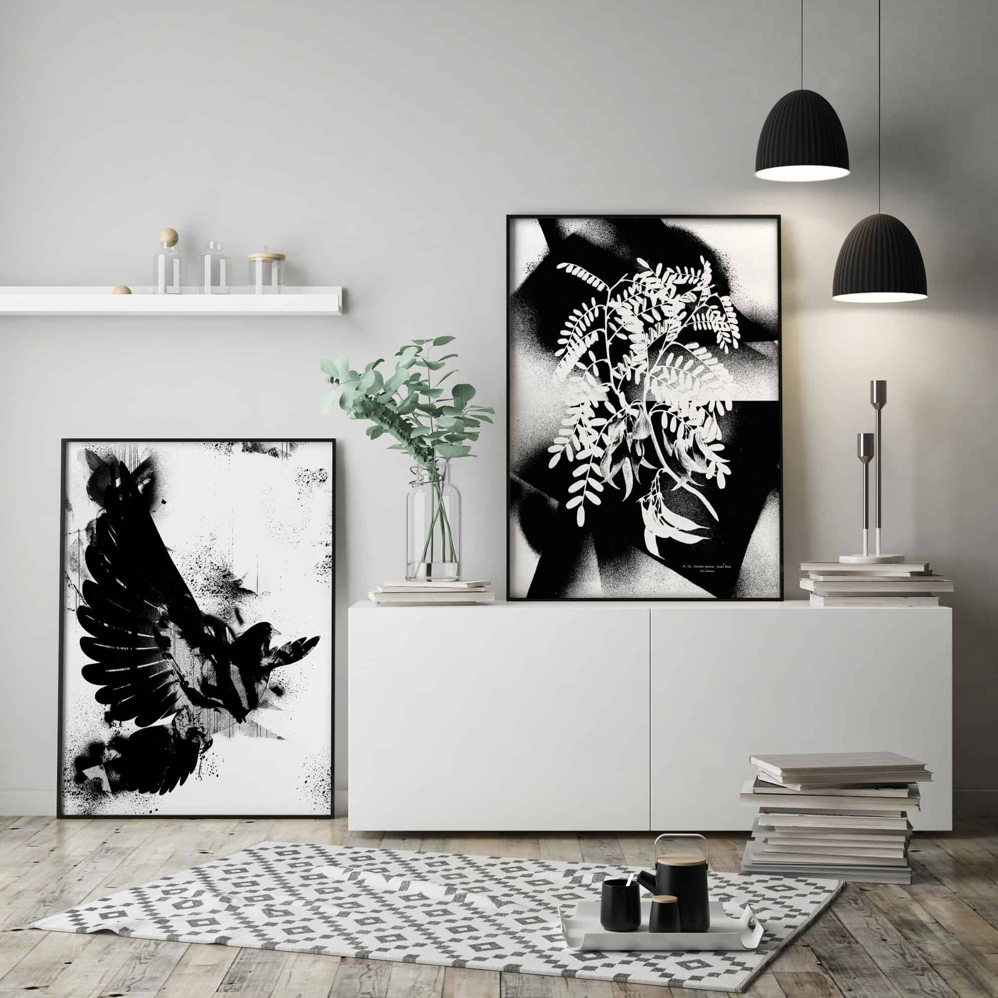 Ink and Drop-black and white affordable artwork graffiti prints
