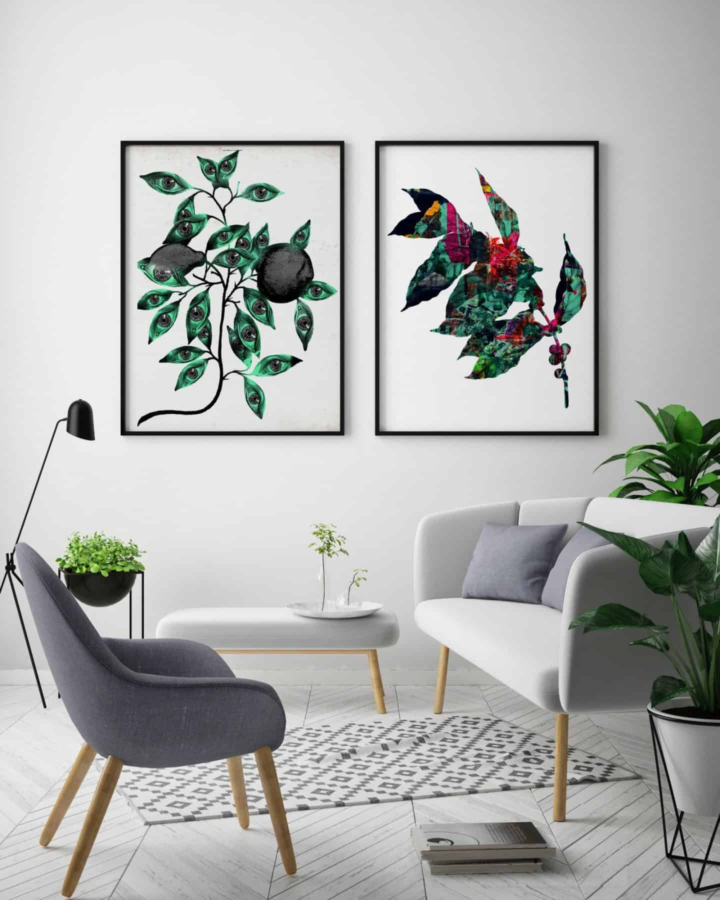Ink and Drop-botanical affordable artwork