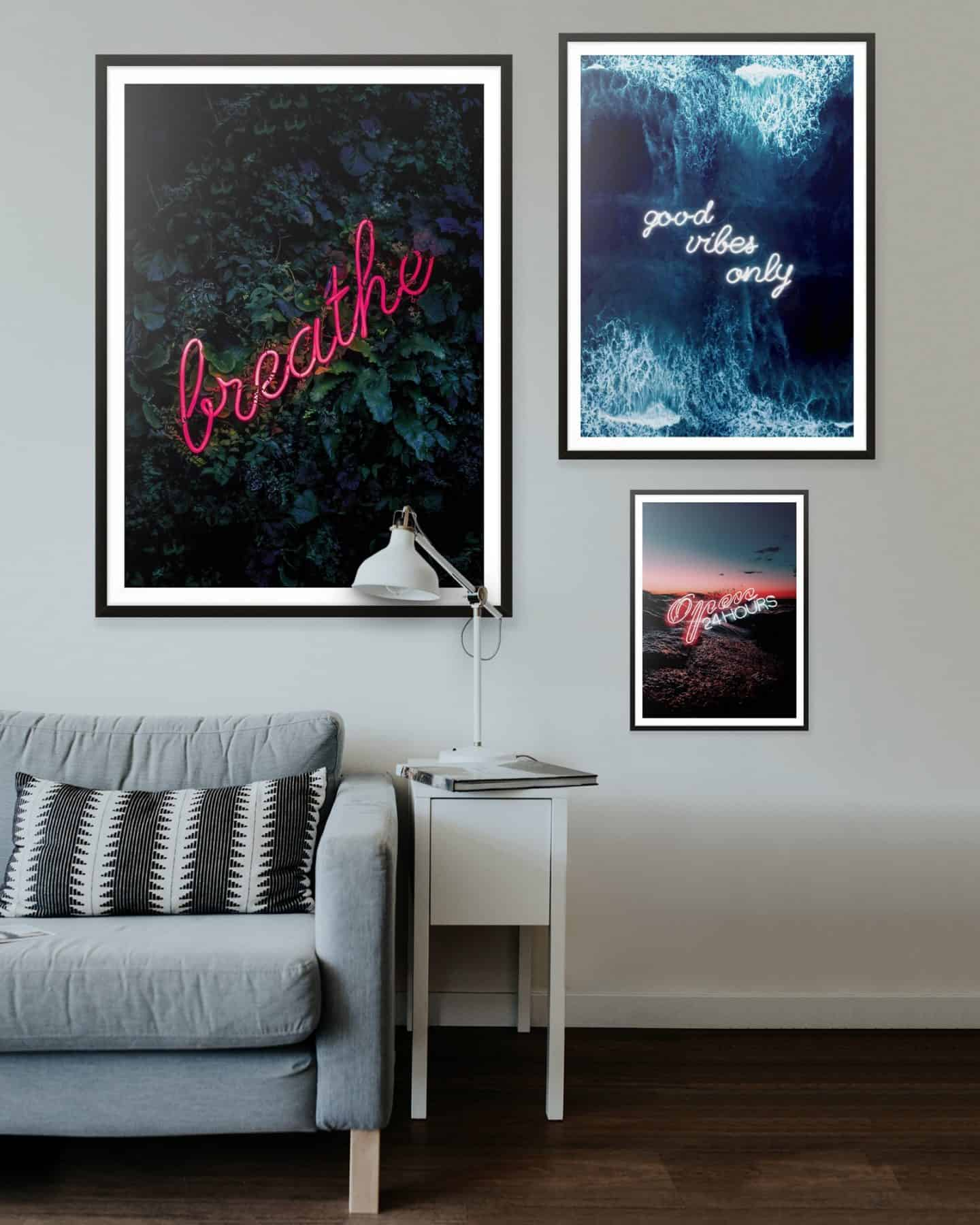 Ink and Drop-neon affordable artwork