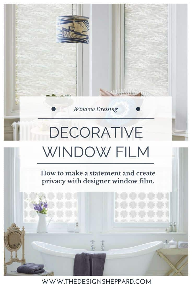 How to make a statement and create privacy with decorative window film