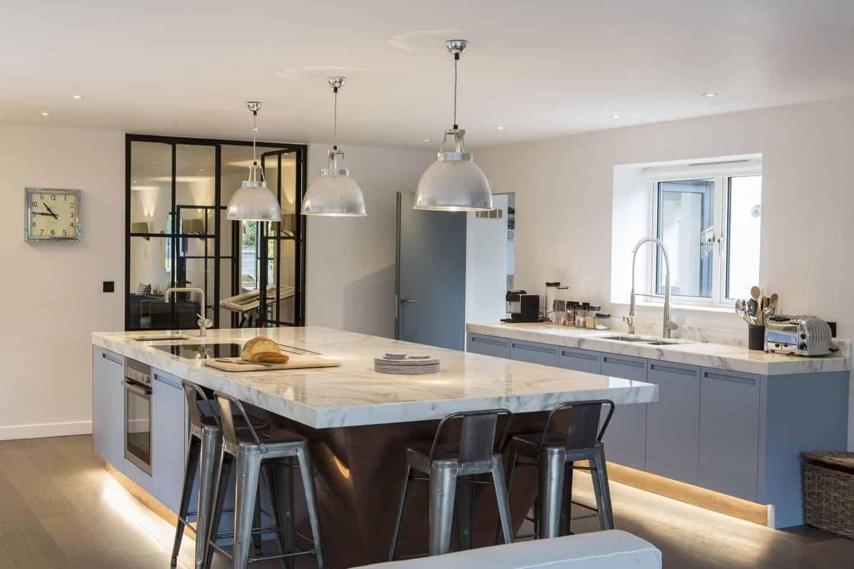 Blue & Copper kitchen by Mark Taylor Design