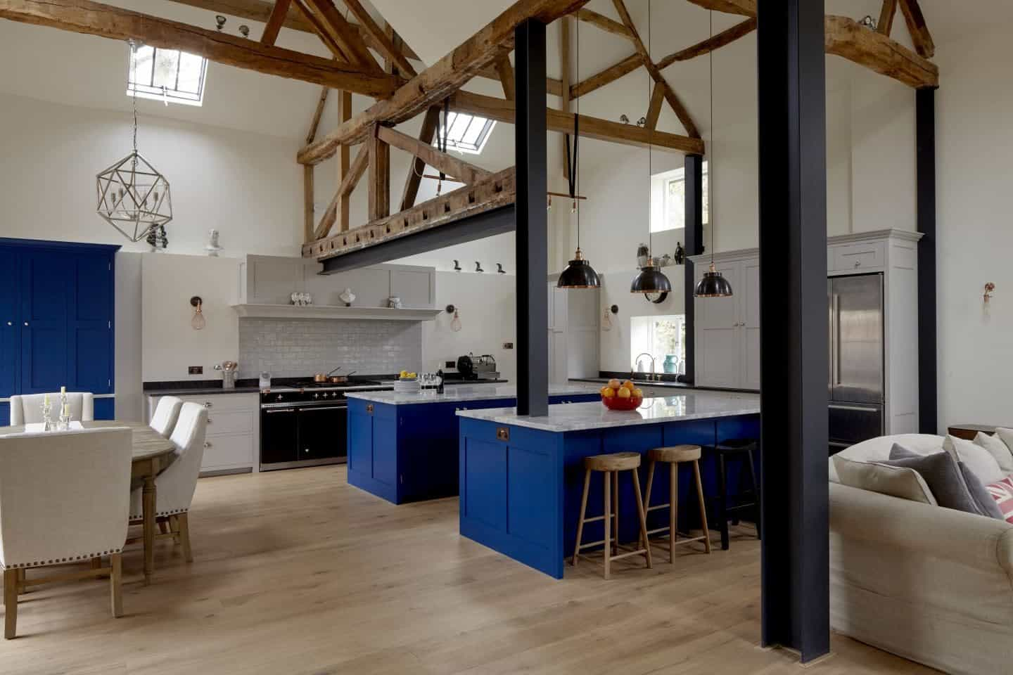 Brooklyn Kitchen in blue by Higham Furniture - Photography by Rowland Roques-O'Neil