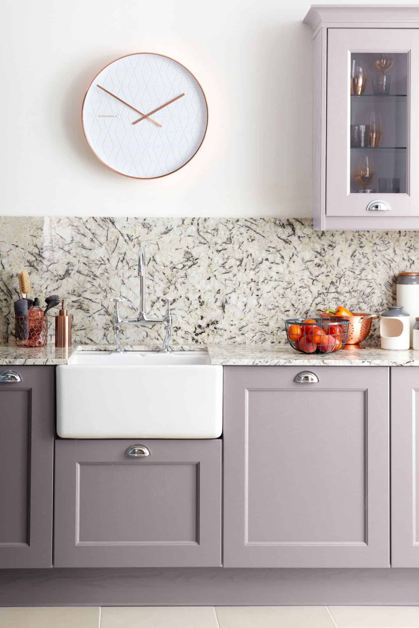 Burbidge Finsbury kitchen in Painted Powder, from £11,000
