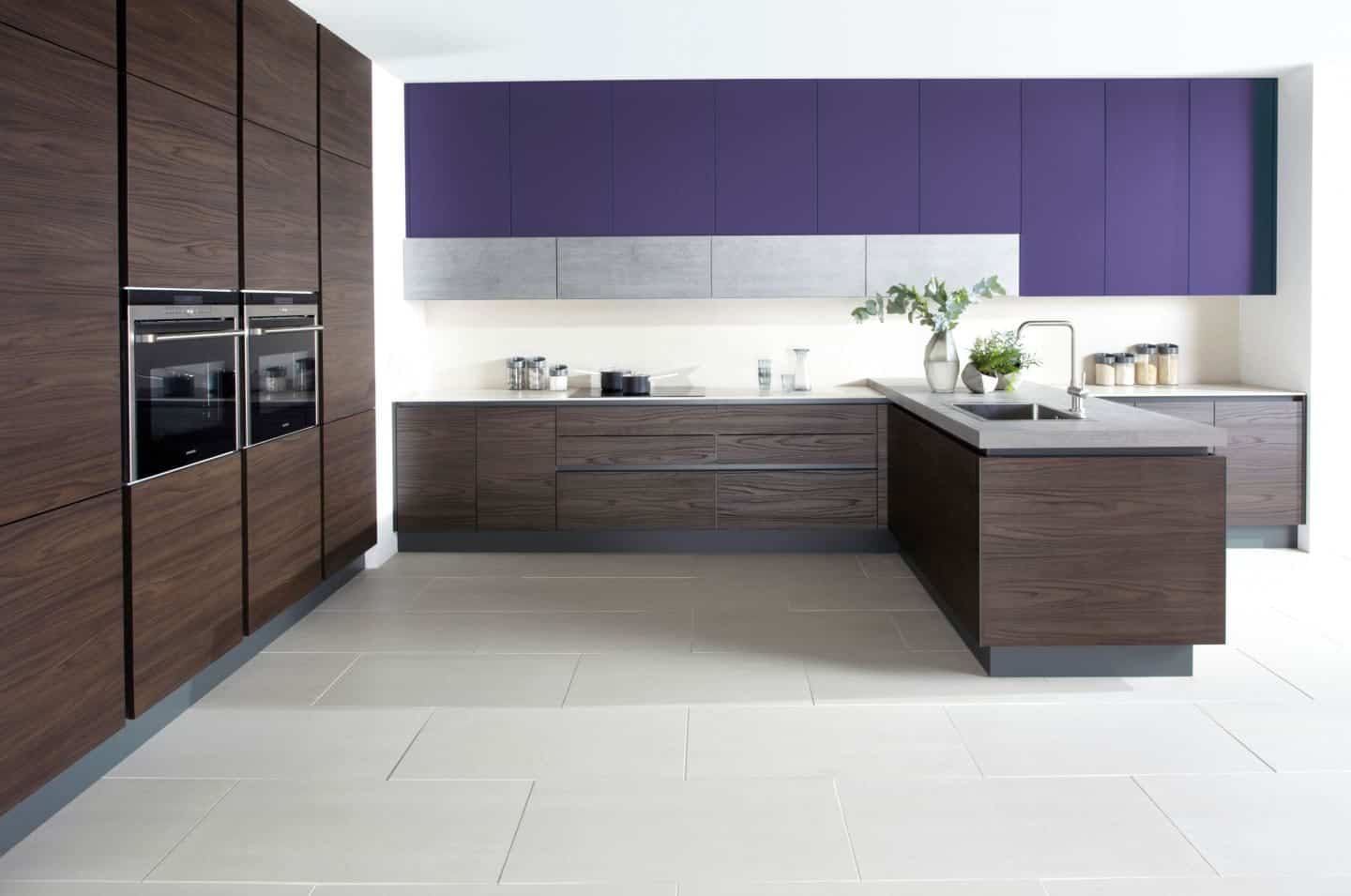 Burbidge Otto Laminate Dark Walnut and Ultra Violet from £7,500