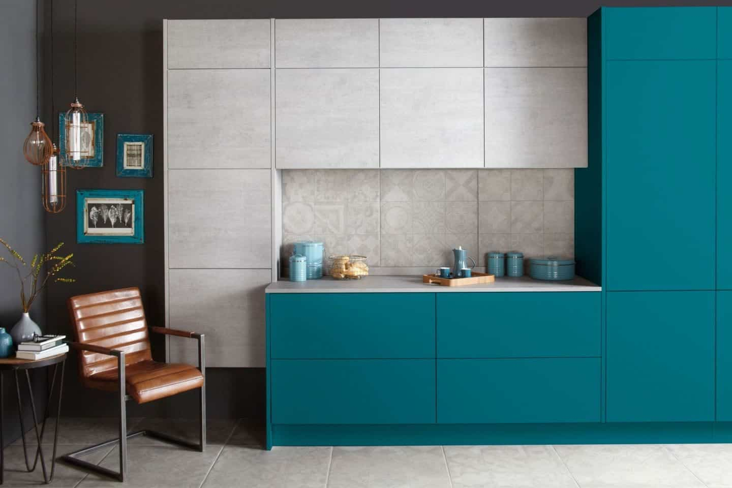 Burbidge Otto in Bespoke Painted Teal and Concrete From £7,500
