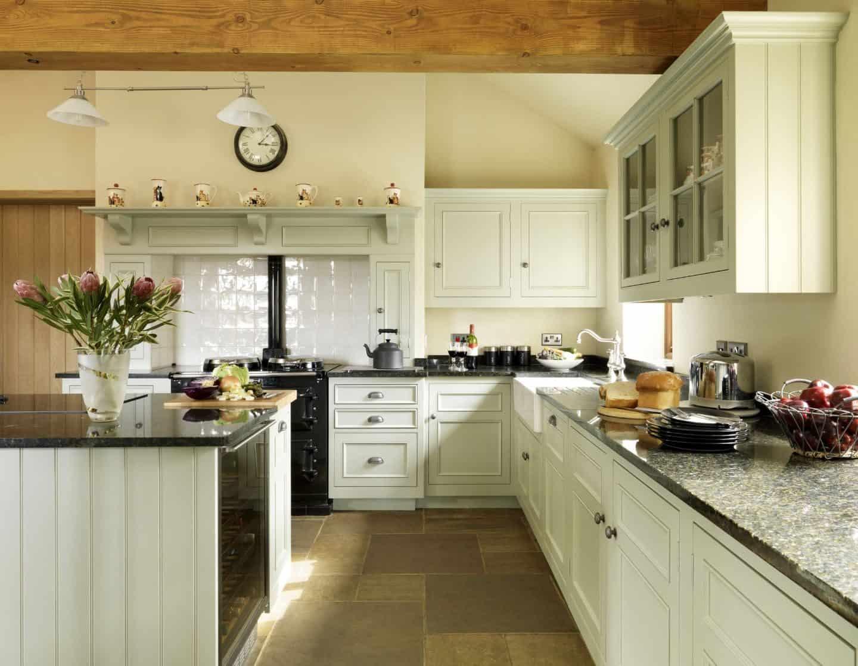 Glasbey - pale green kitchen by Harvey Jones