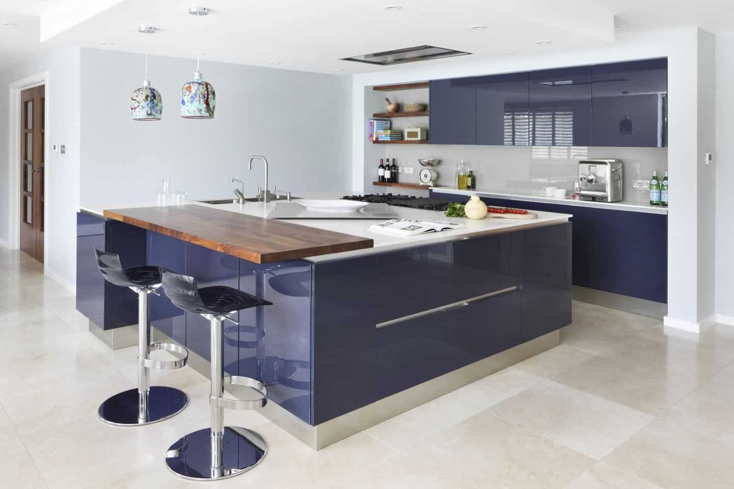 Hub Kitchens - Davoli purple kitchen