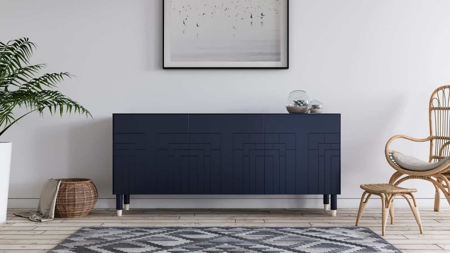 Hack IKEA furniture with Norse Interiors -Frida in Classy Navy and Gulli Legs