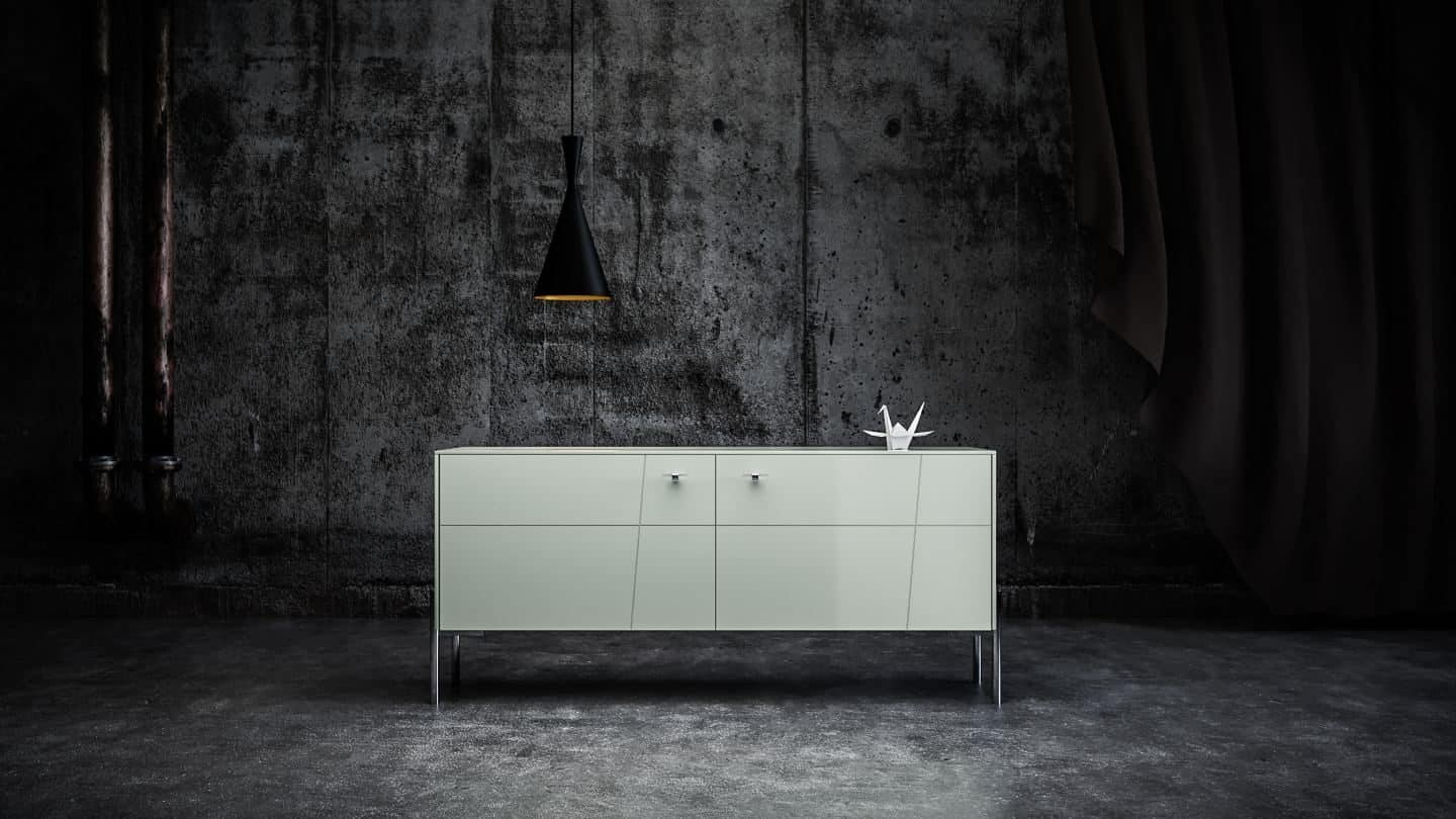 Hack IKEA furniture with Norse Interiors -Rosa in Silver Sage with Chrome Kristina Knobs and Chrome Sara Legs