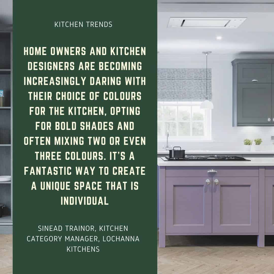 Quote on kitchen treds from LochAnna Kitchens