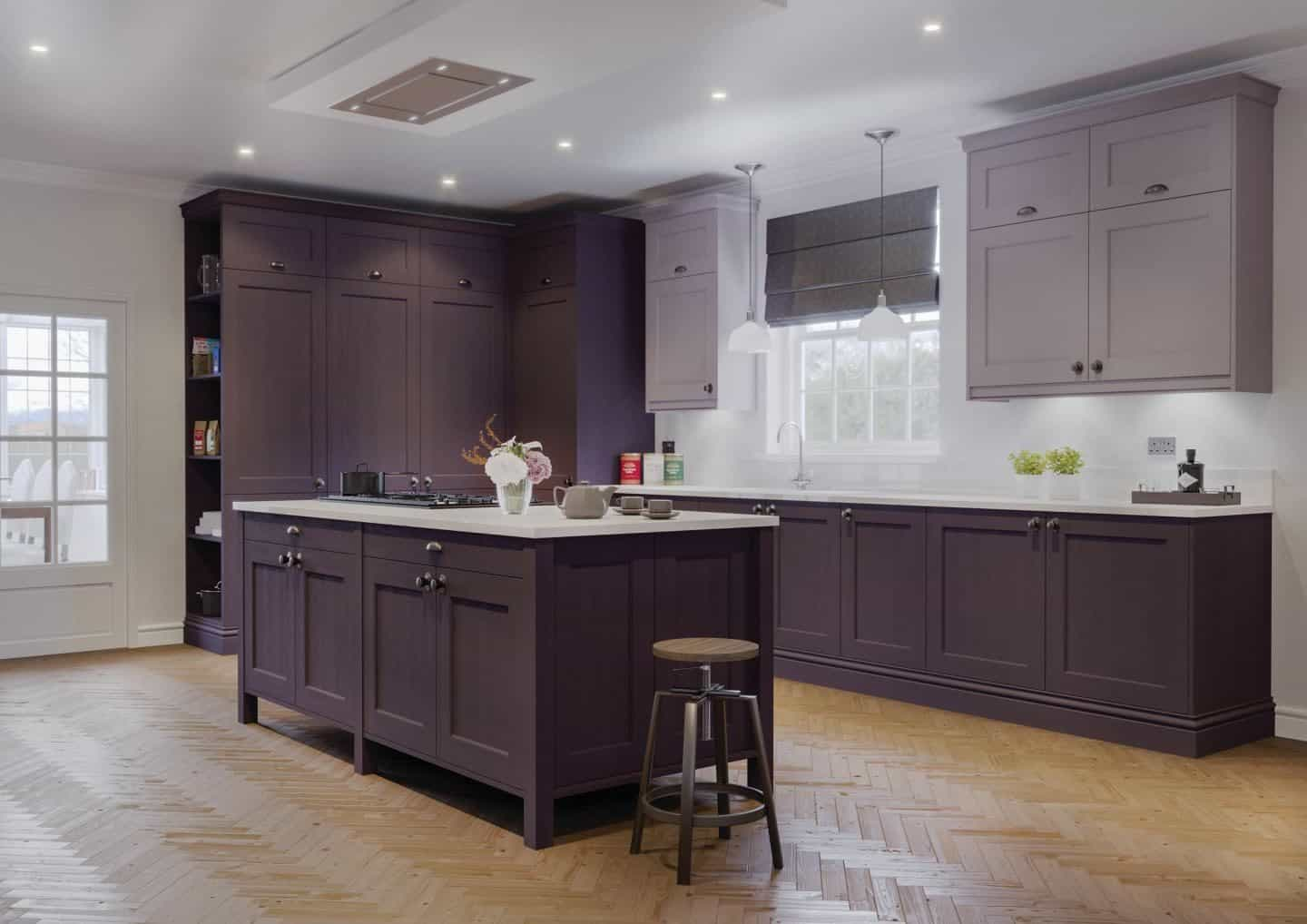 LochAnna Kitchens, The Natural Georgian Collection, Damson & Lavender