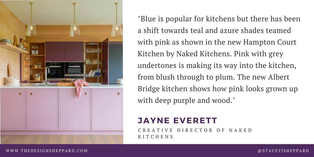 Kitchen trend quote from Naked Kitchens
