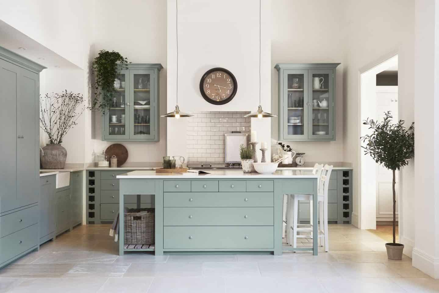 Neptune Edgbaston - Suffolk kitchen hand-painted in Sage from £12,000