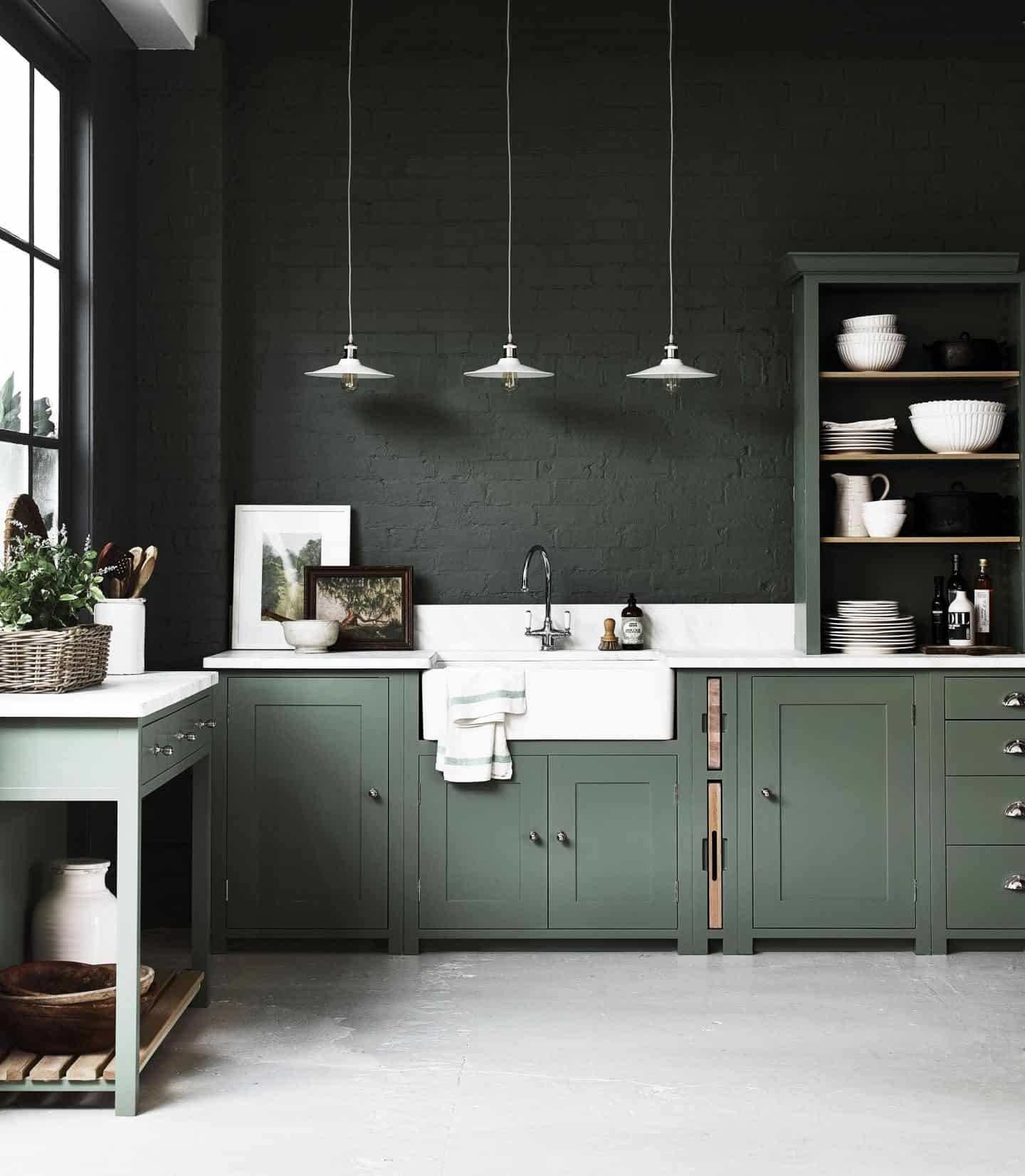 Neptune Suffolk kitchen hand-painted in Cactus from £12,000