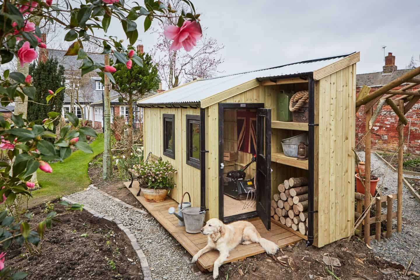 The Posh Shed Company -Gardener Shed -Three Module with Shelving