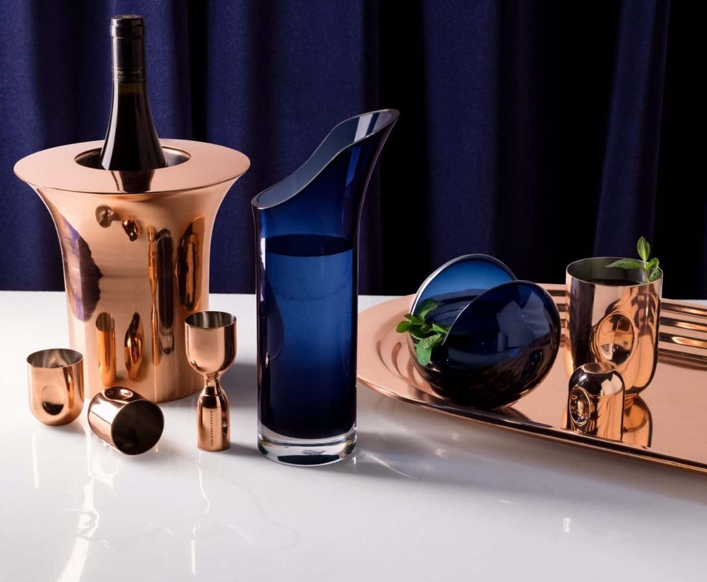 plum cocktail set by Tom Dixon - Designer Barware