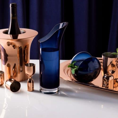 plum cocktail set by Tom Dixon
