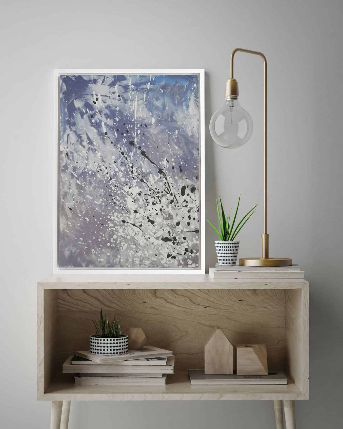 Airo Cool_Canvas Print_Blue & Grey - Attiko Art - abstract wall art print