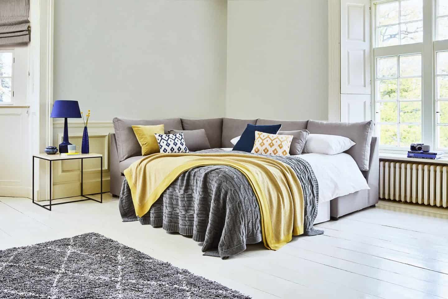 How to choose perfect fabric for furniture. Willow & Hall - 5 Seater Armless Storage Sofa Bed