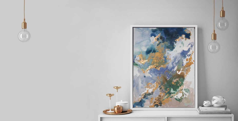 Marino Stone_Orange & Copper - Attiko Art - abstract wall art print