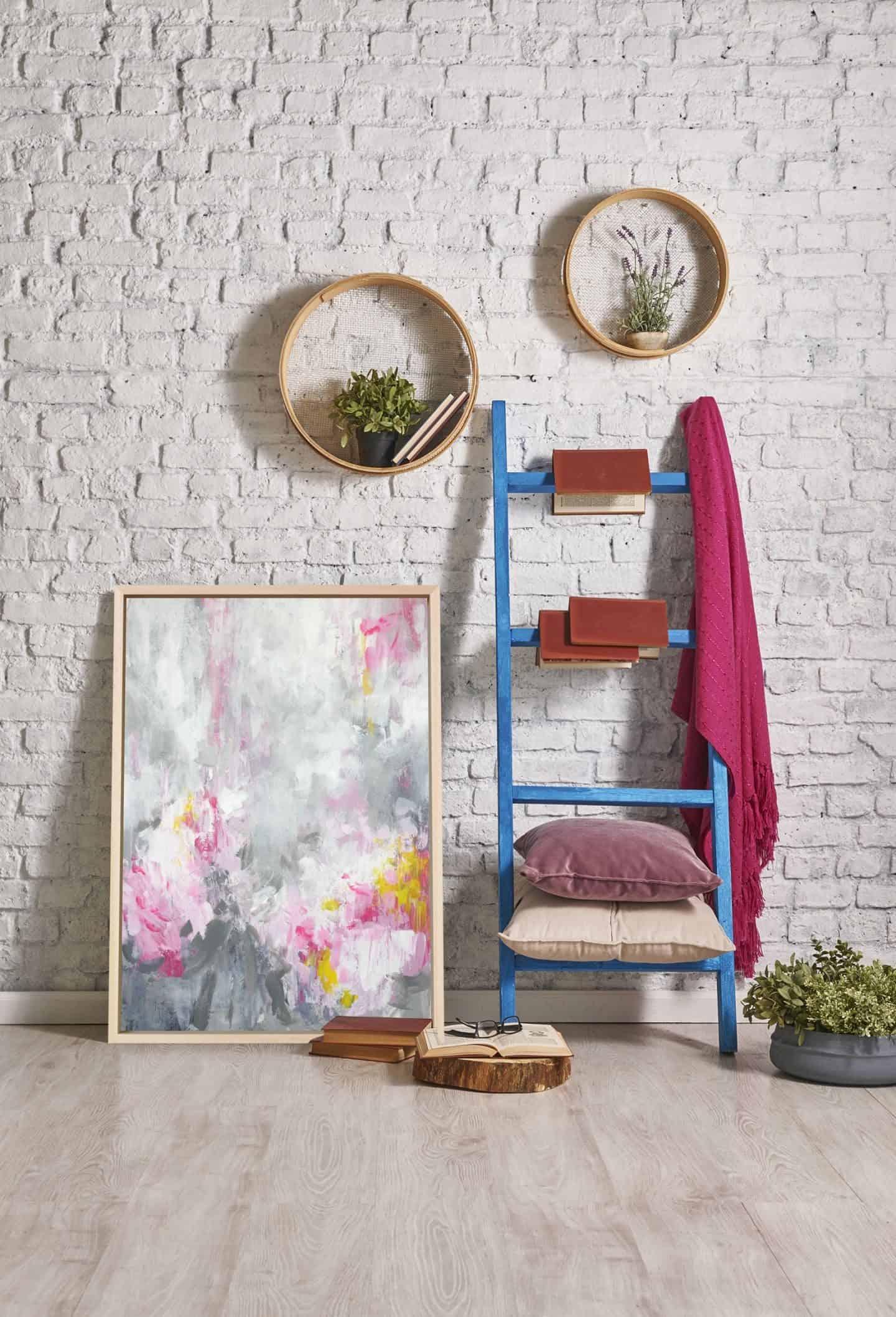 Rosa Nina_Canvas Print_Pink & Grey - Attiko Art - abstract wall art print