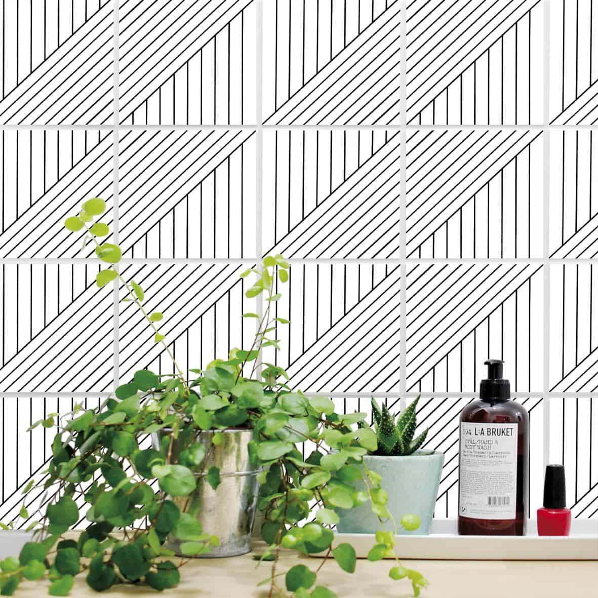 Boubouki self-adhesive tile stickers -INFINITO-01
