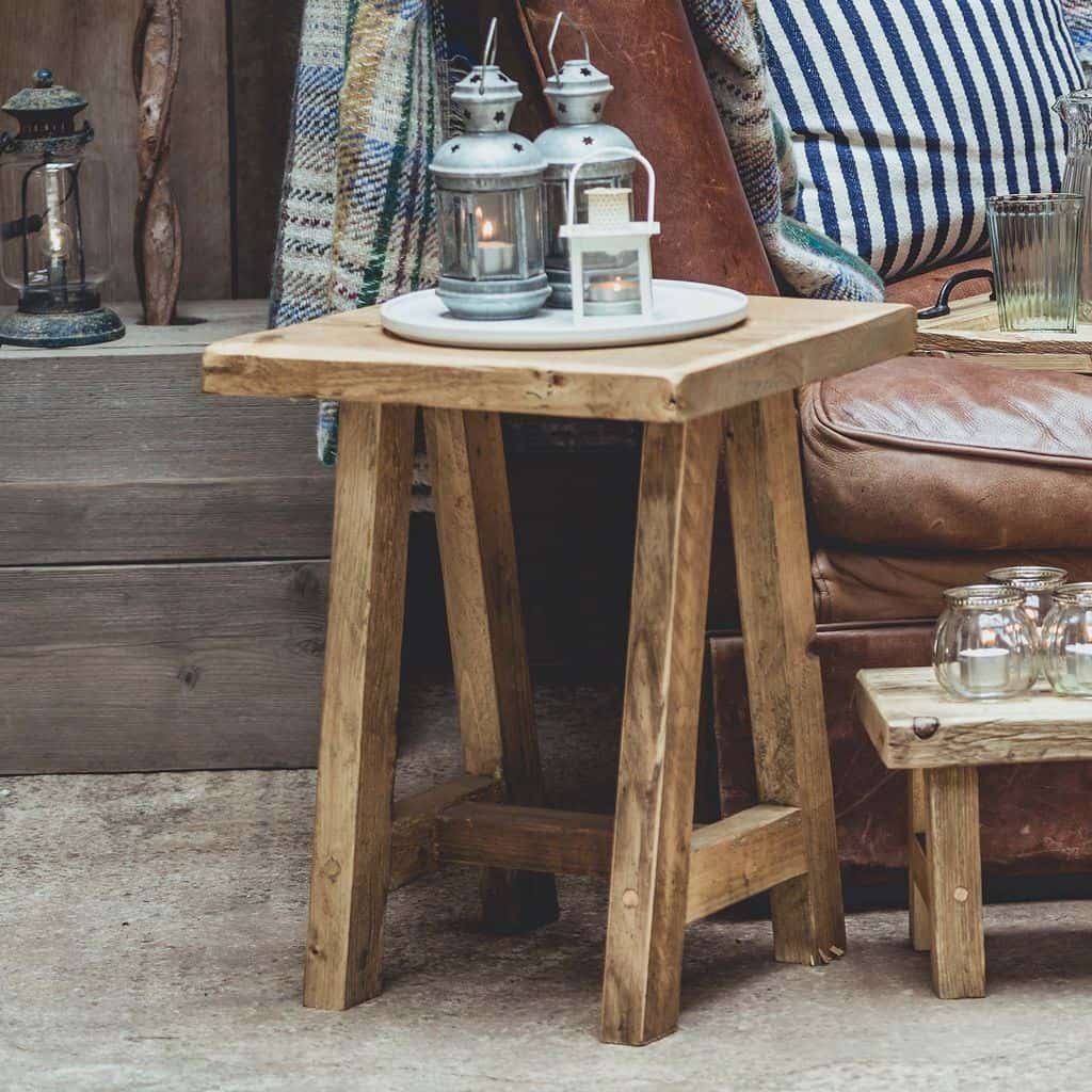 Vincent Trading - Side Table 2 - reclaimed wooden items