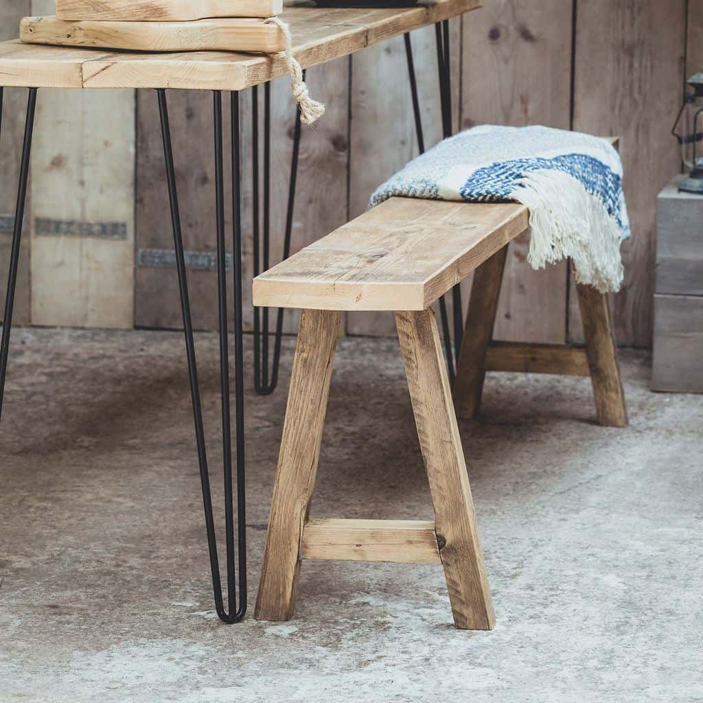 Vincent Trading - Table & Bench 2 - reclaimed wooden items