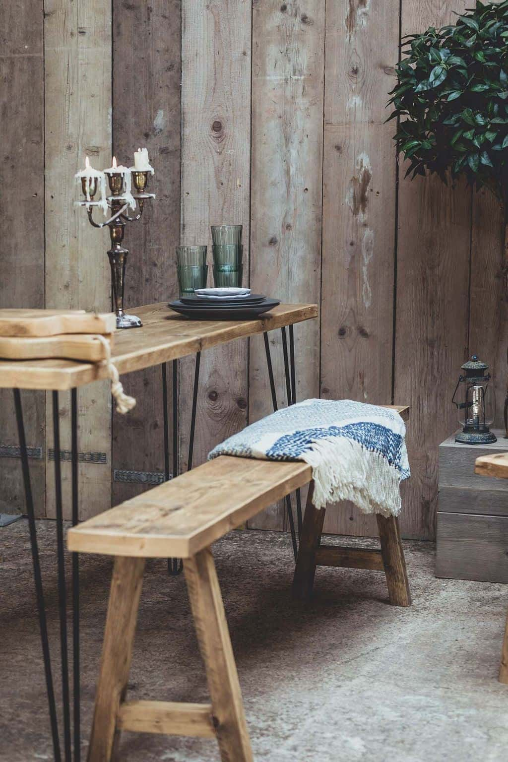 Vincent Trading-Table & Bench - reclaimed wooden items