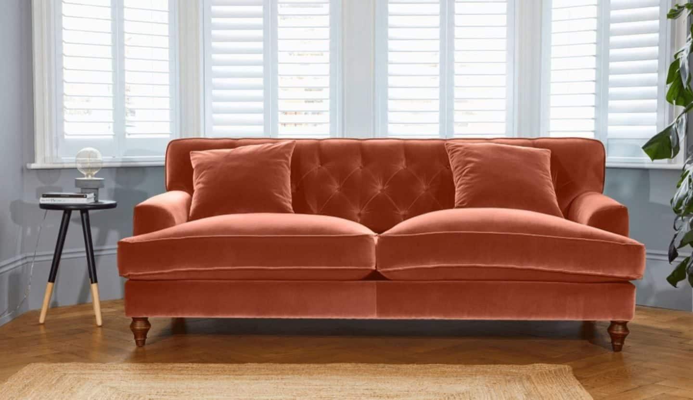 Darlings of Chelsea - Charnwood Sofa Hard Wearing Velvet Brick
