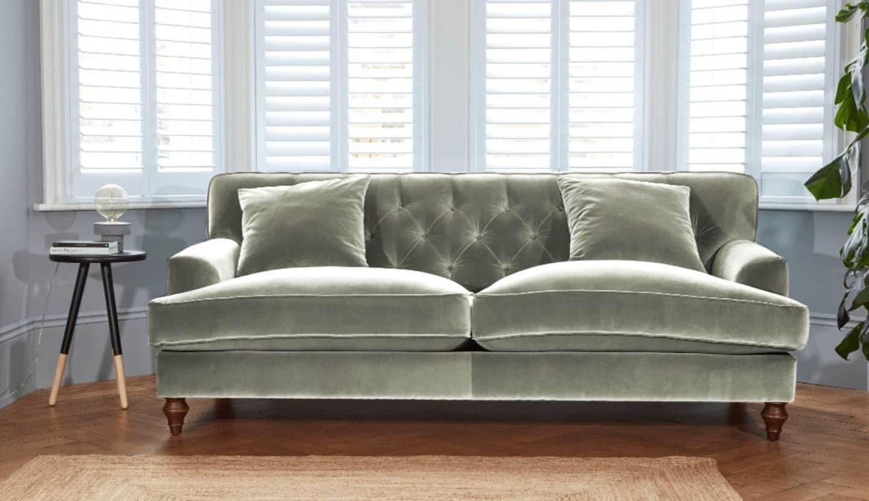 Darlings of Chelsea - Charnwood Sofa Hard Wearing Velvet Slate