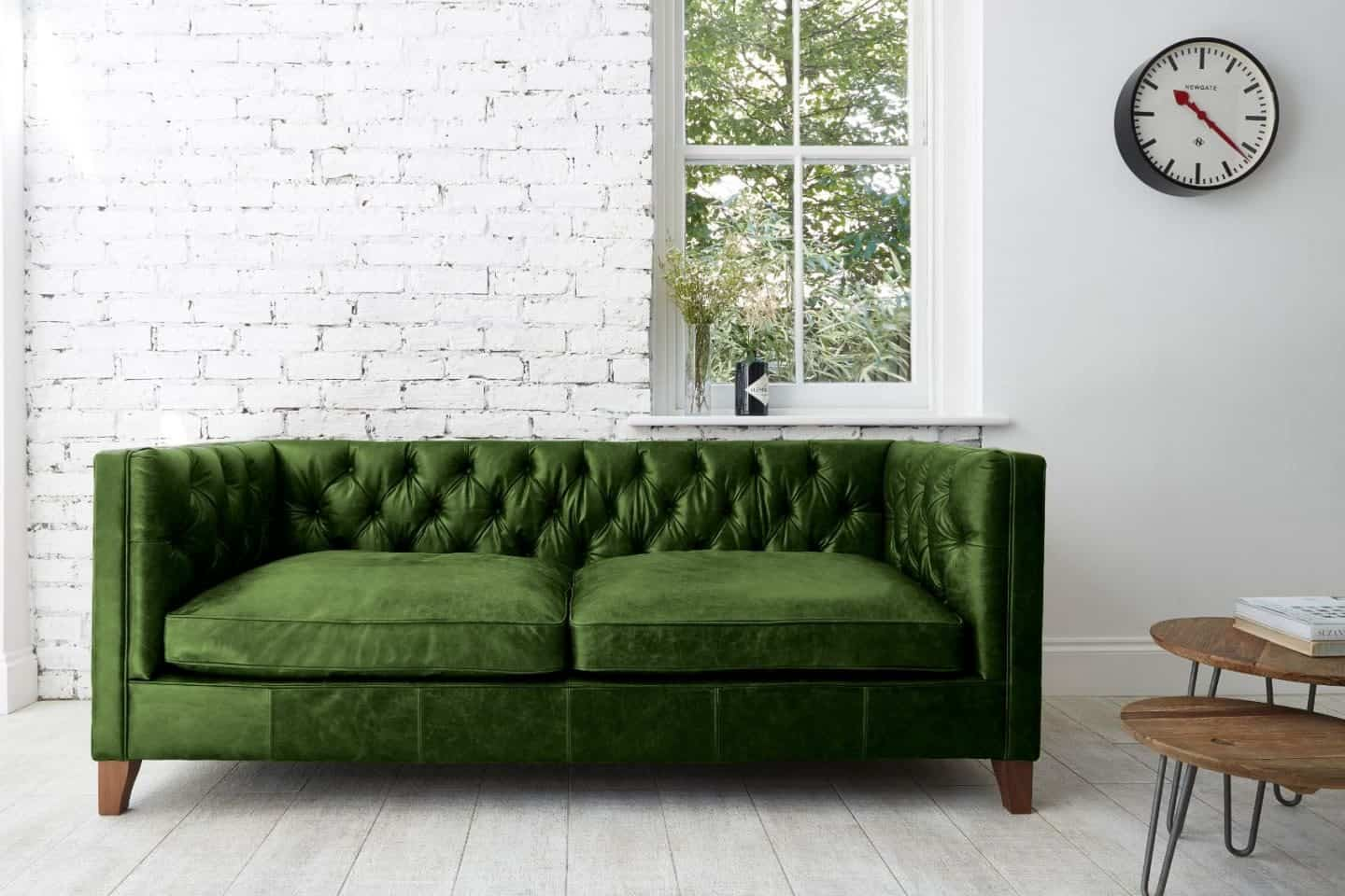 Darlings of Chelsea - Edward Leather Sofa- Autumn Leaves Winter Pine