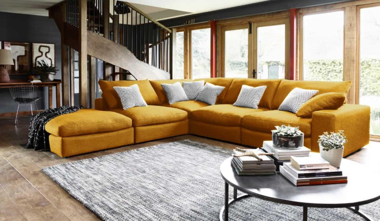 Darlings of Chelsea - Haymarket Extra Deep Large Corner Sofa in Mystere Gold