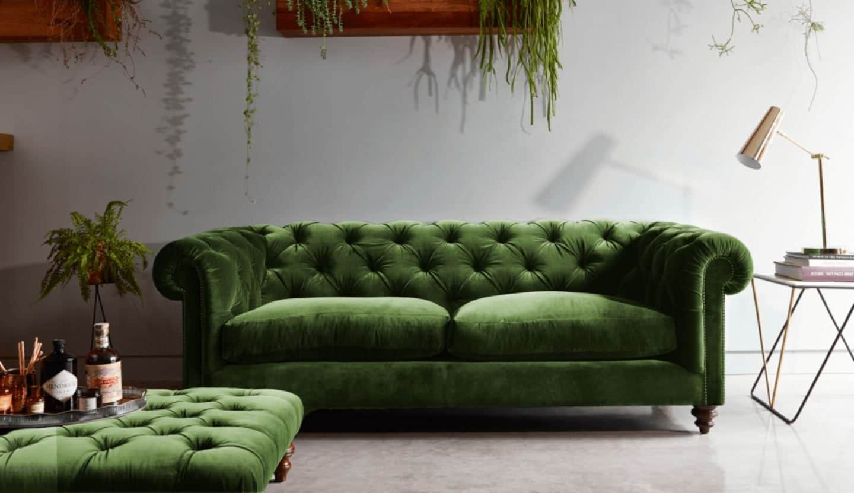 Darlings of Chelsea - Stirling Midi Sofa - Oscar Velvet Vintage Green