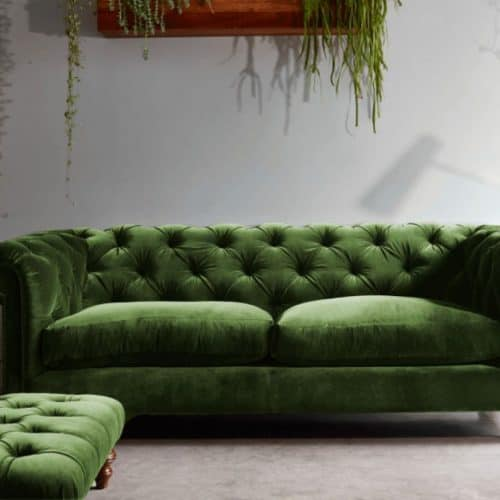 Darlings of Chelsea - Stirling Midi Sofa - Oscar Velvet Vintage Green